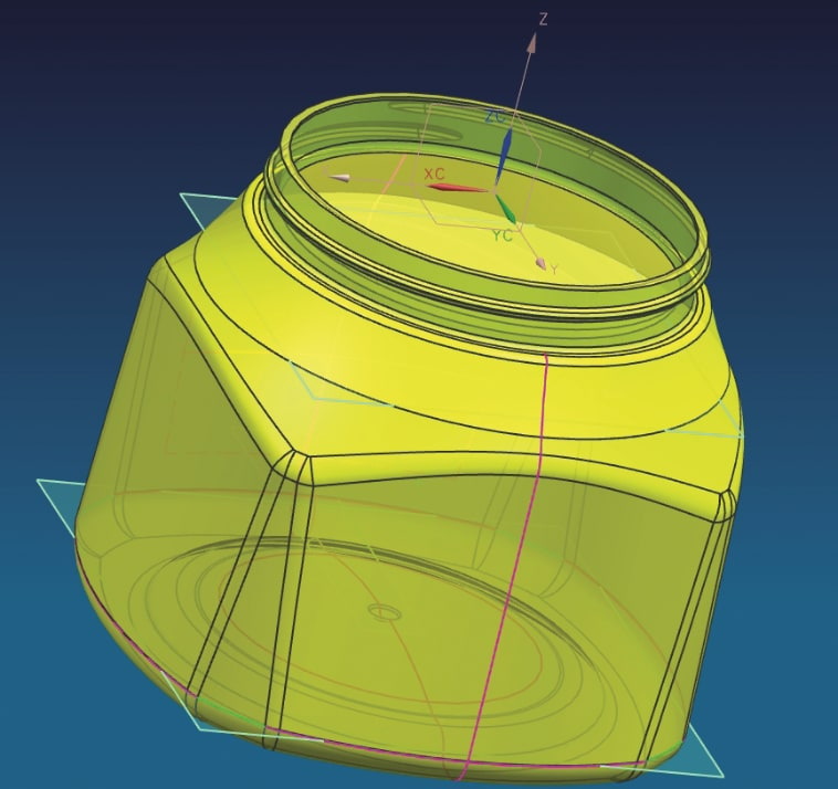 Plastic design of Truvia jar ready for 3D printing.