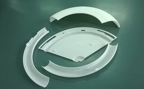 Bajaj designers created this ceiling light housing prototype using FDM technology and ABS thermoplastics.
