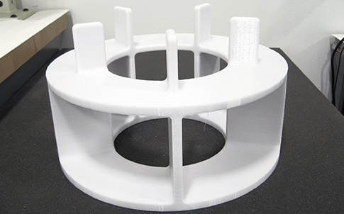 A knee coil assembly  xture used in coil assembly and test.